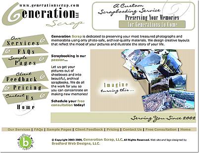 Custom Scrapbook Designer Layouts by GenerationScrap.com