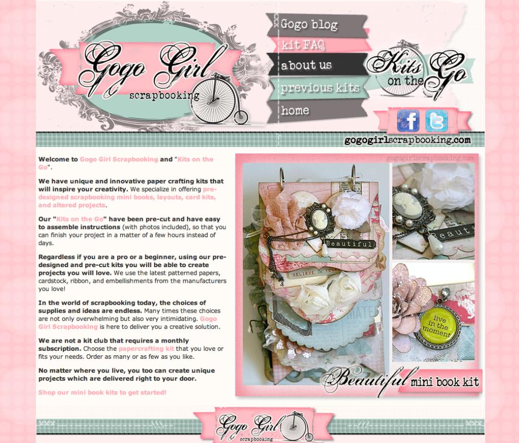 BradfordWebDesigns.com: Scrapbook Custom Designed Website Web Site
