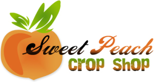 BradfordWebDesigns.com: Sweet Peach Crop Shop Scrapbooking Kit Club Logo Design